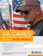 Thumbnail of VA Cares poster Agent Orange - Rider