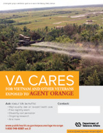 Thumbnail of VA Cares poster Agent Orange - Helicopter