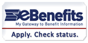 E-benefits: my gateway to benefit information. Apply. Check status.