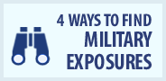 Four ways to find military exposures