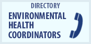 Environmental health coordinators directory.