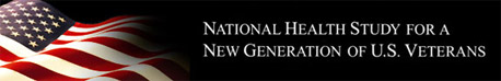 National Health Study for a New Generation of U.S. Veterans logo with American flag