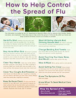 Brochure 3: How to Control the Spread of Flu