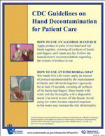 Hands 29 - CDC Guidelines on Hand Decontamination for Patient Care