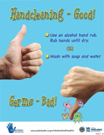 picture about Free Printable Hand Washing Signs called Hand Cleanliness Posters - Community Health and fitness