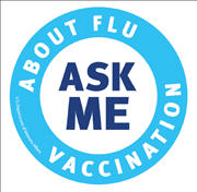 Ask Me About Flu Vaccination button