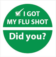 I Got My Flu Shot Did You? sticker