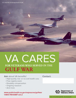 Thumbnail of VA Cares poster Gulf War - Aircraft