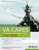 Thumbnail of VA Cares poster Gulf War - Missile