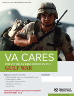 Thumbnail of VA Cares poster Gulf War - Soldier