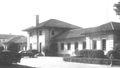Cropped image of Buckner Hall at Fort McClellan