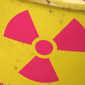 Radiation symbol on yellow barrel