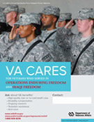 Thumbnail of VA Cares poster OEF/OIF - Soldiers