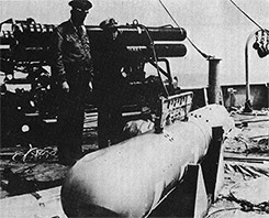 General Wilson and ADM Guest with Recovered Bomb